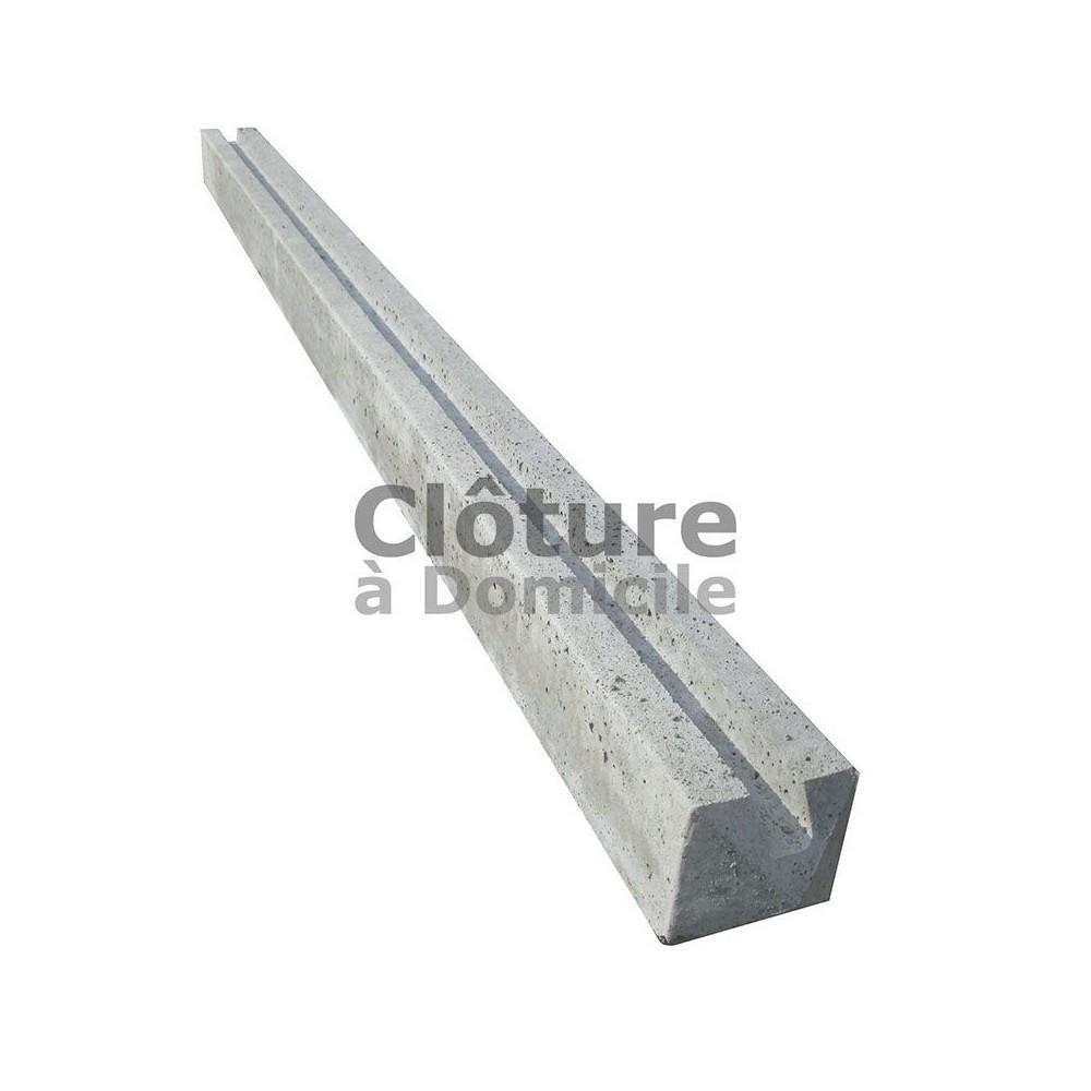 Prix D Un Mur De Cloture En Plaque De Beton poteau béton - intermédiaire