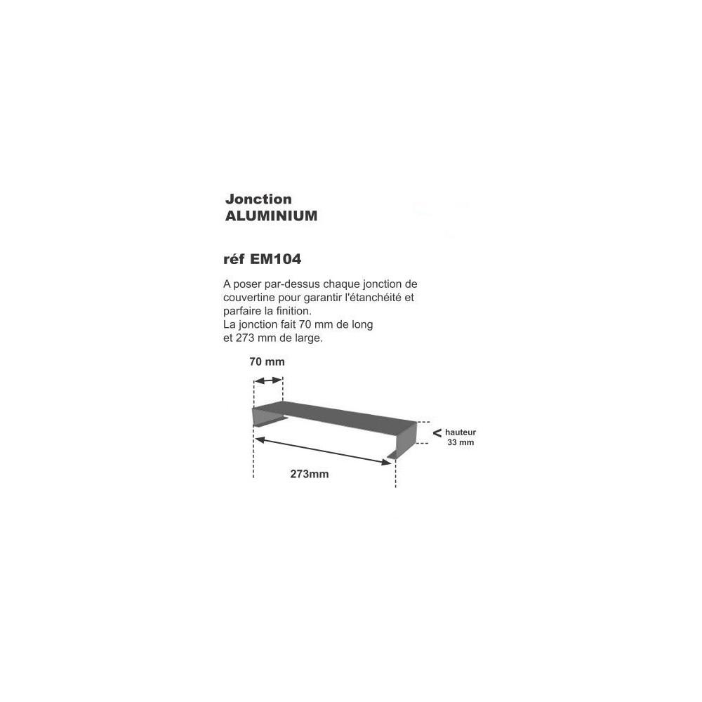 Jonction de couvertine 70 x 273 x 1 mm