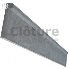 Plaque de soubassement béton - 50 cm