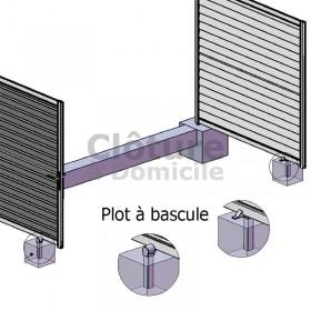 Plot à bascule pour portail aluclos