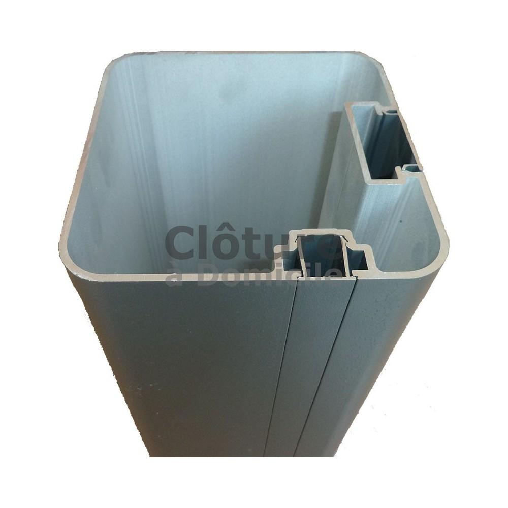 Brise Vue Hauteur 1M70 pillier pour portail ou portillon aluminium couleur gris - ral : 7016  hauteur 2,23 m