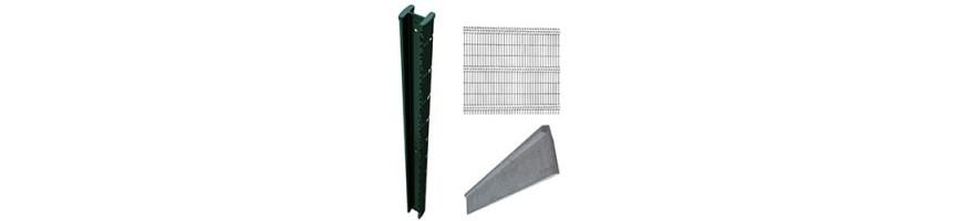 Pack clôture en panneau rigide