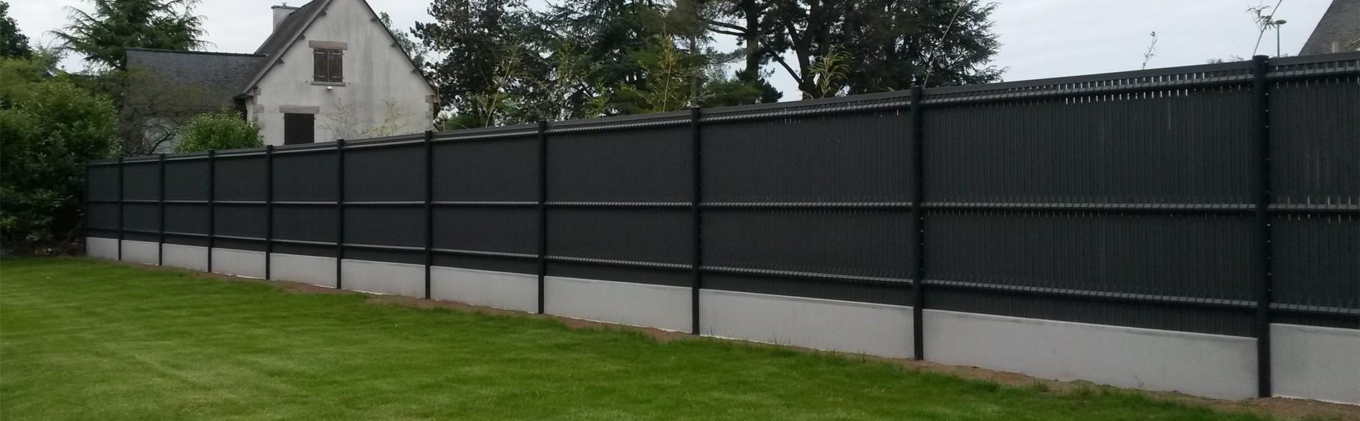 Prix D Un Mur De Cloture En Plaque De Beton vente de clôtures rigides (pvc, alu) grillages & portails